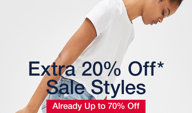 Extra 20% Off* Sale Styles   Already Up to 70% Off