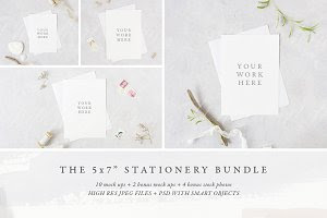 "The 5x7"" stationery mock up BUNDLE"