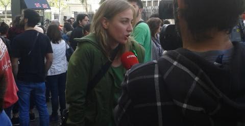 Tania Sánchez, presente en la manifestación en memoria de José Couso. /JOSEFINA GROSSO