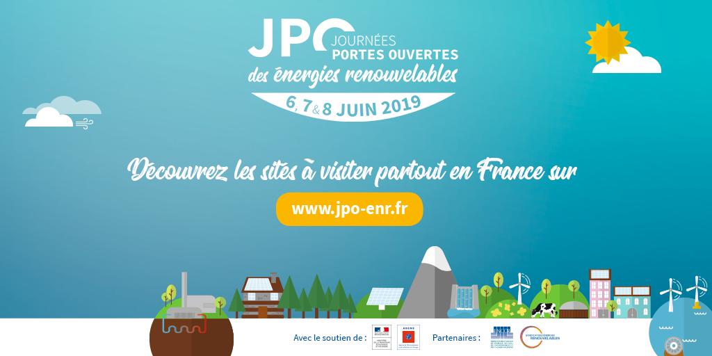 + de 130 sites ouverts dans toutes la France à l'occasion des Journées Portes Ouvertes des EnR