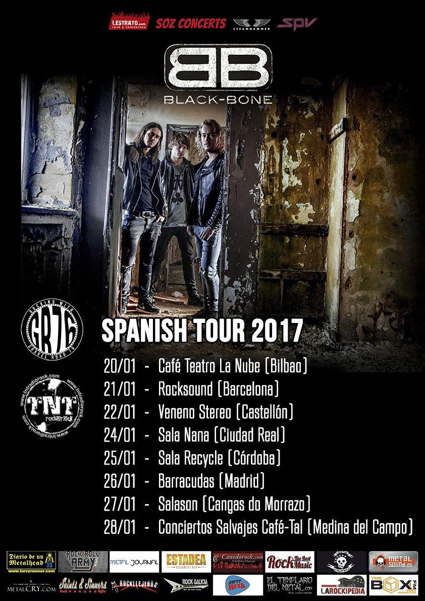 Tour en España de Black Bone, 2017