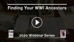 FInding WWI Ancestors webinar image