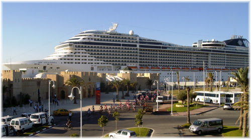 MSC Splendida at the cruise port of La Goulette in Tunis