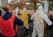 Picture of a mock Ebola Treatment Unit (ETU)