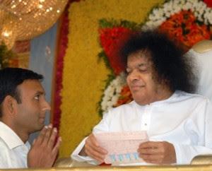 Madhu with Sai Baba