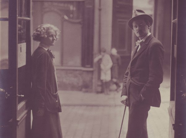 "James Joyce in Paris with Sylvia Beach, who published ""Ulysses."""