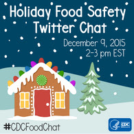 Facebook promotional graphic for CDC's Holiday Food Safety Chat