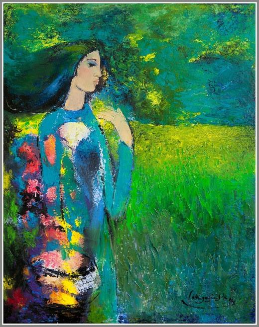 Một thoáng hương xưa. Tranh sơn dầu 90cmx70cm by Nguyễn Sơn
