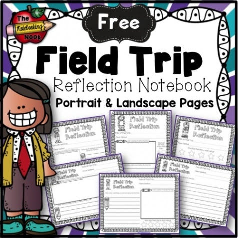 Free Field Trip Reflection Notebooking Pages