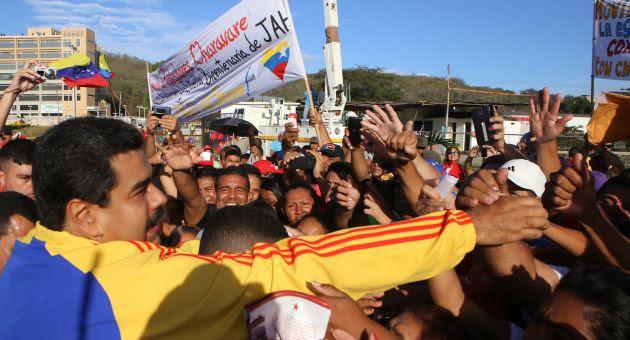 Maduro en Charallave, durante la inauguración del Mega Bicentenario