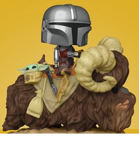 Pop! Deluxe: The Mandalorian - The Mandalorian & The Child on Bantha