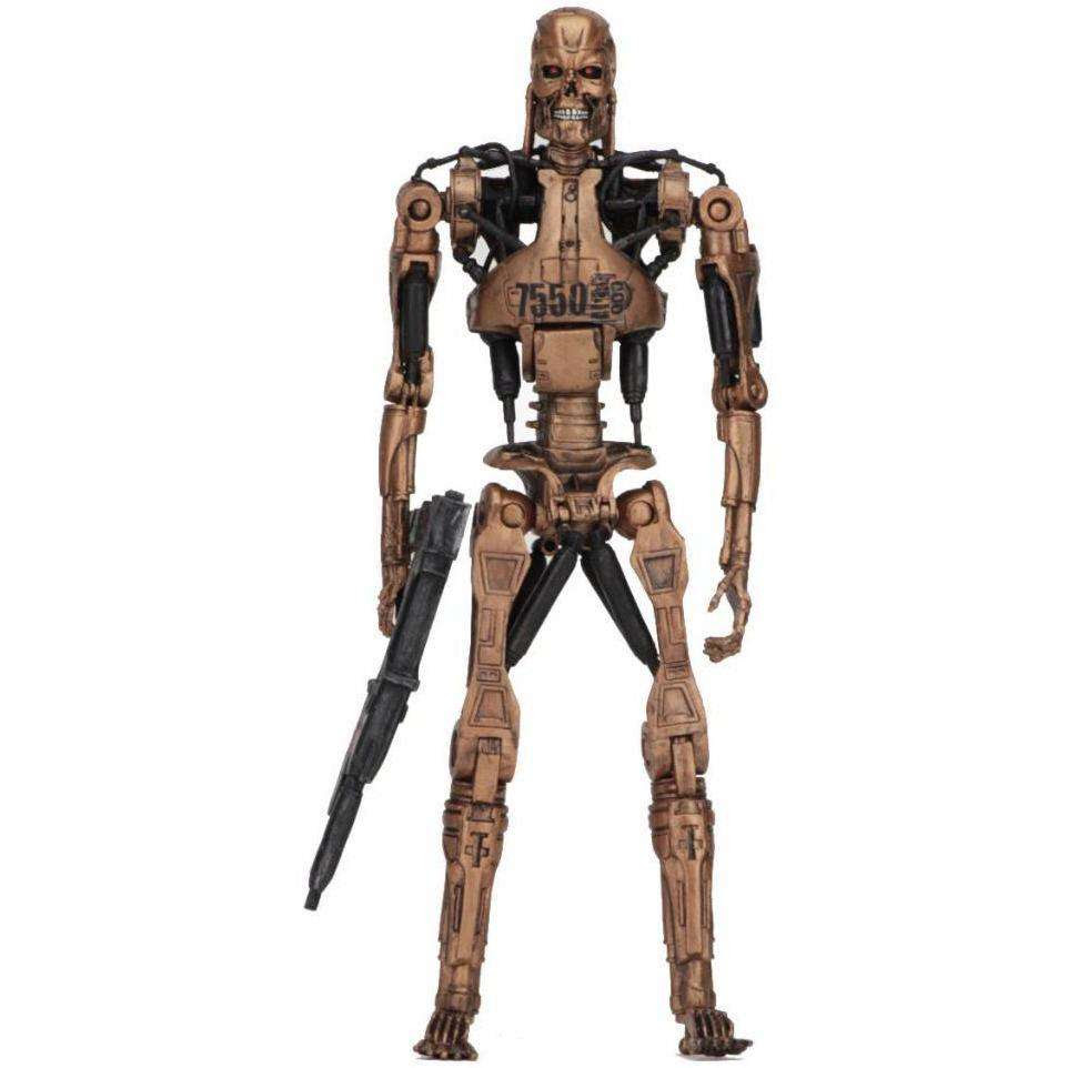 "Image of Terminator 2 - 7"" Scale Action Figure - Kenner Tribute - Metal Mash Endoskeleton"