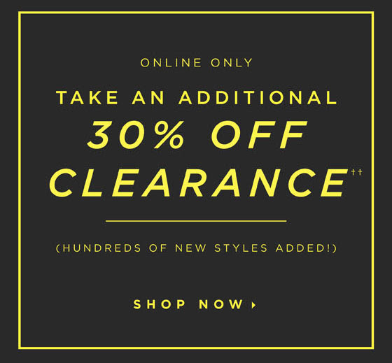 Additional 30% Off Clearance!