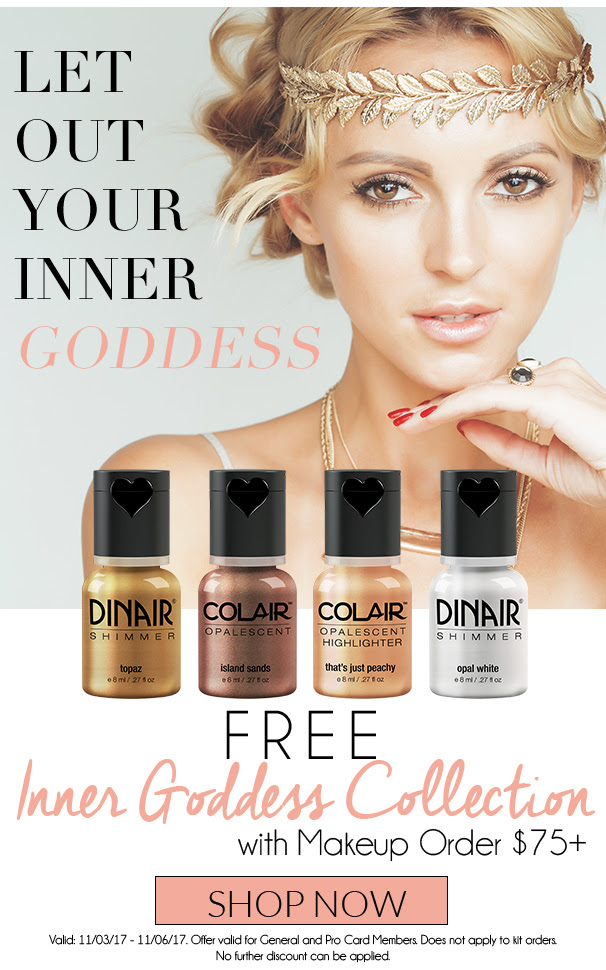 FREE Inner Goddess Collection with Makeup Order $75+