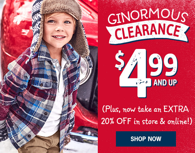 Ginormous clearance | $4.99 and up | (Plus, now take an extra 20% off in store & online!) Shop Now