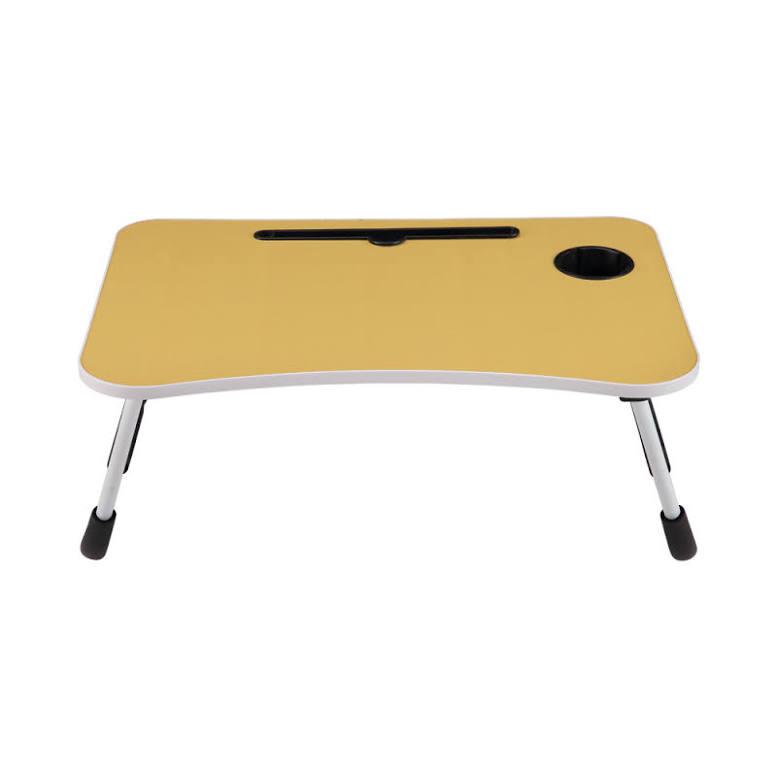 Odi Meja Laptop Dengan Tempat Gelas - Kuning