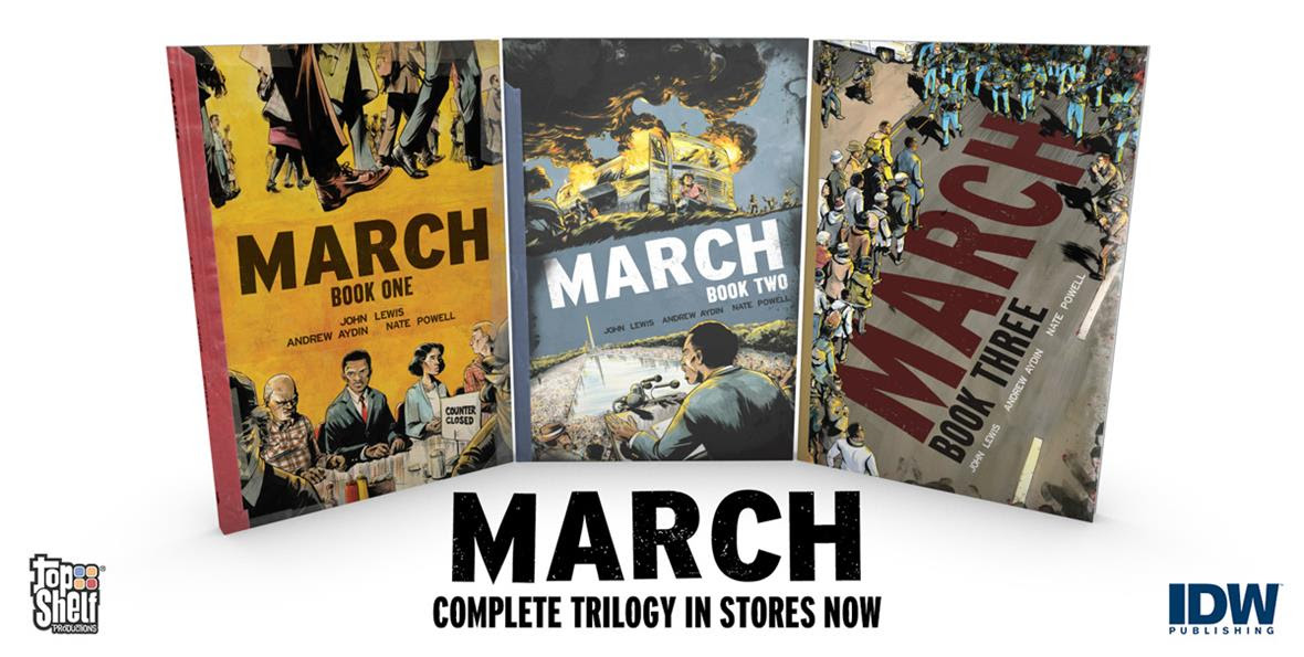 MARCH: BOOK THREE is here! – Plus Deluxe Comic-Con Editions Now Available