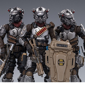 Hardcore Coldplay Skeleton Forces Hell's Fifth Company 1/18 Scale Figure Set