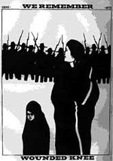 we remember wounded knee poster