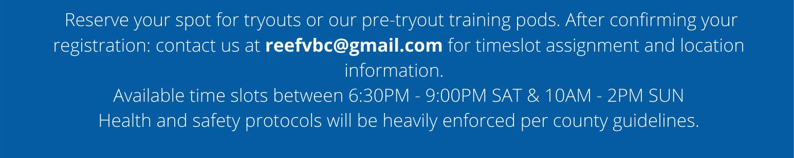 Email us at reefvbc at gmail dot com