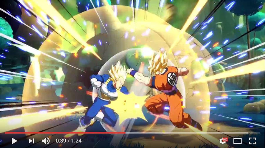"Click to watch ""Dragon Ball FighterZ - Ready to fight?!"" E3 Trailer"