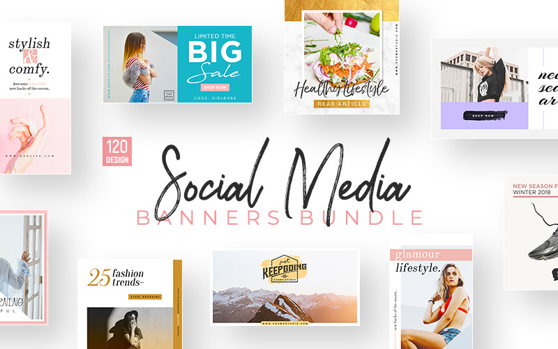 120 Unique Social Media Templates
