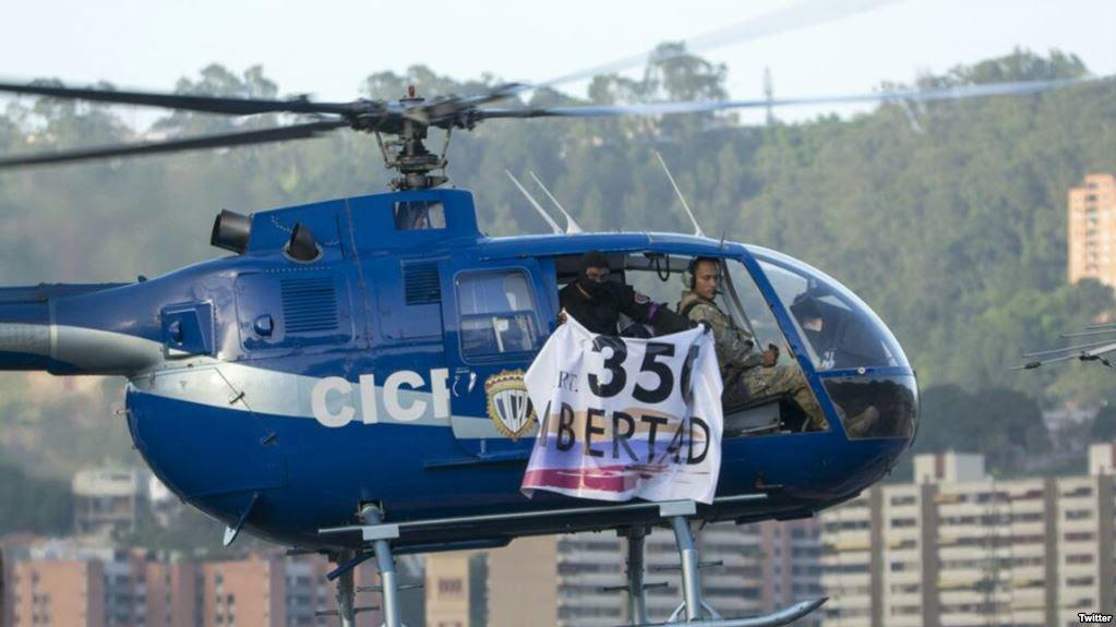 VENEZUELA: Fuerzas especiales buscan a un piloto que ayer desafió régimen de Maduro