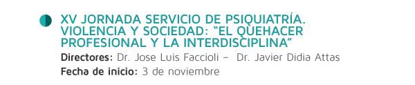 XV Jornada Servicio de Psiquiatría.