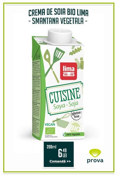 Crema de soia bio (smantana vegetala), 200ml - Lima