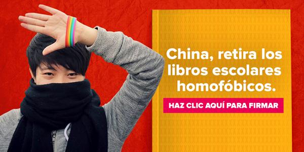 China, retira los libros escolares homofóbicos. Haz clic aquí para firmar la petición.
