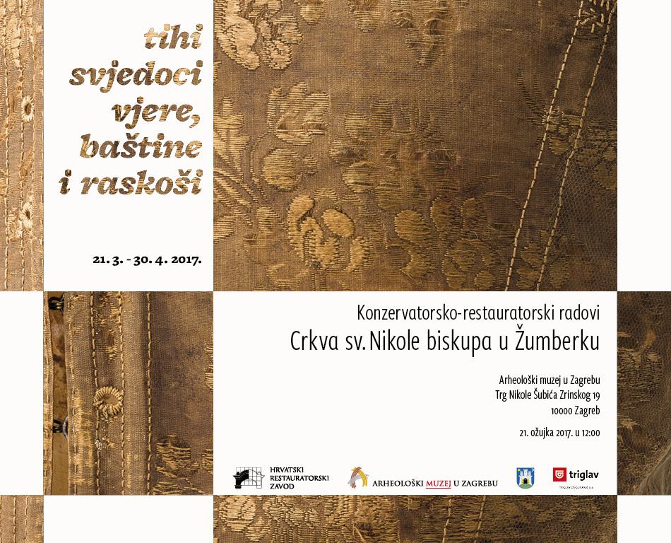 AMZ | HRZ – Otvorenje izložbe 'Tihi svjedoci vjere, baštine i raskoši Crkva sv. Nikole biskupa u Žumberku – konzervatorsko-restauratorski radovi' [PRESS]