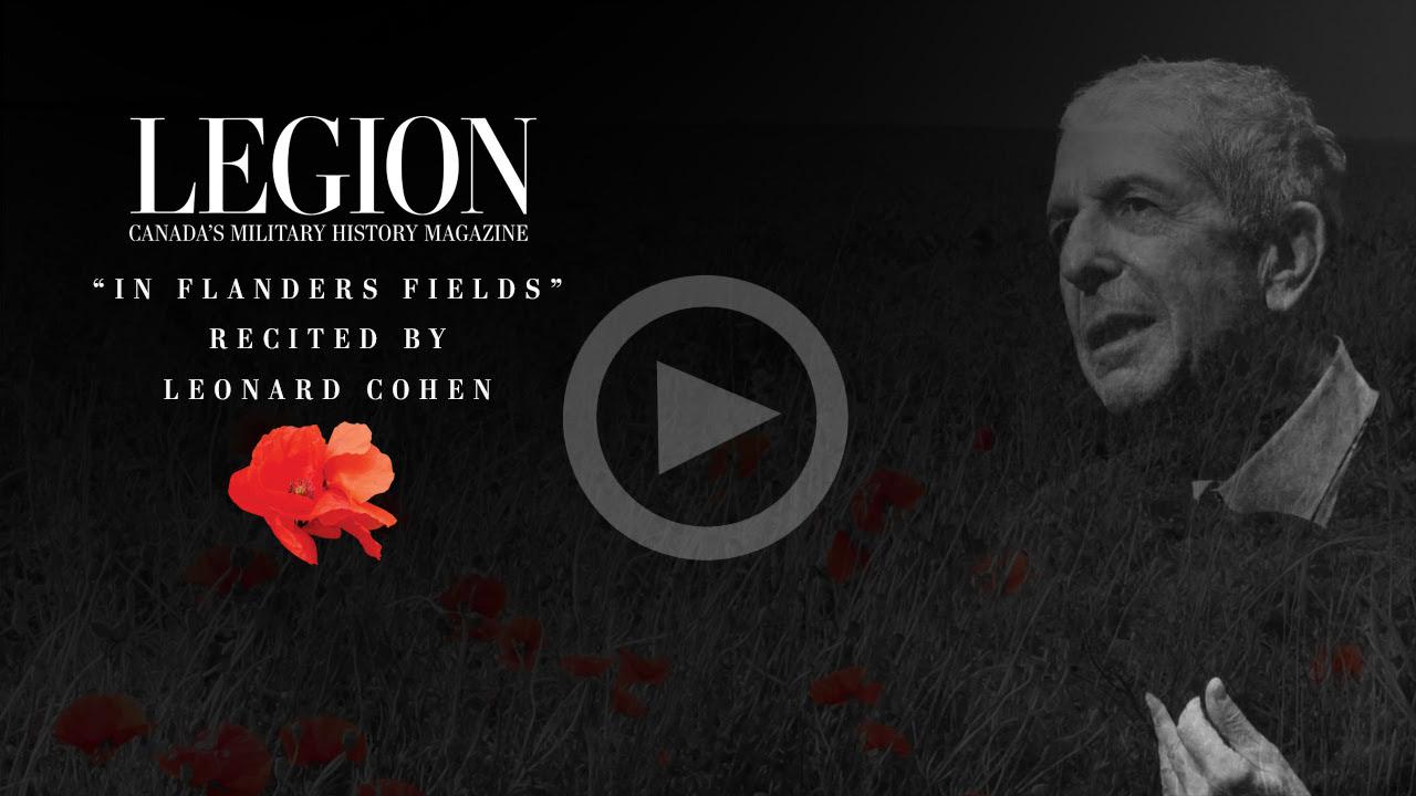 Leonard Cohen recites In Flanders Fields