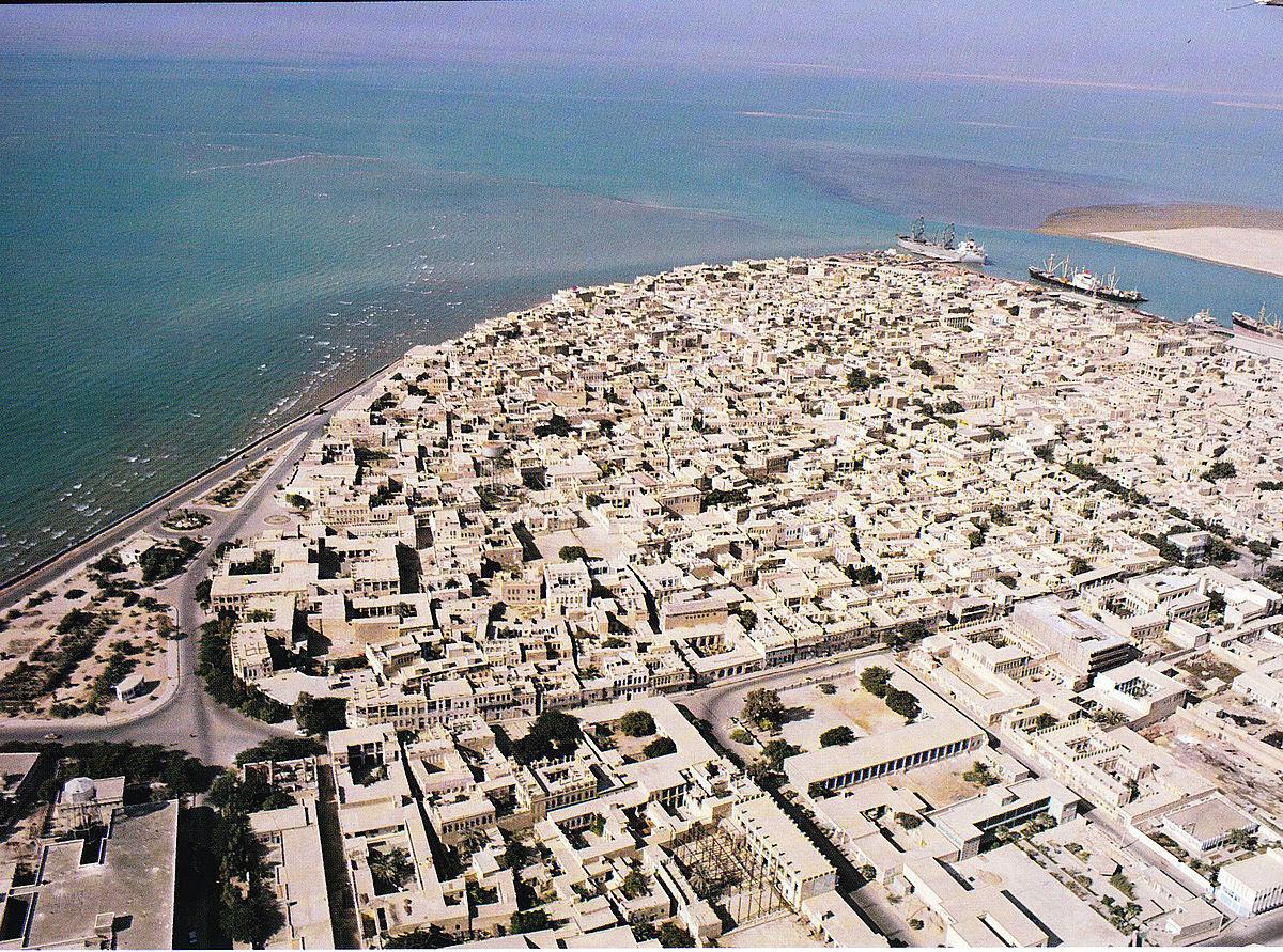 Bushehr, Iran, on coast of Persian Gulf. (Wikipedia)
