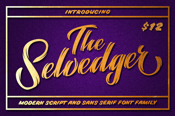 The Selvedger • Font Family