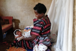 A mother with her newborn baby in Uganda