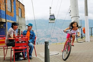 The cable car system has cut journey times in the hilly city.