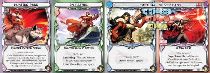 An older version Exceed, Option, Style, and Base Card