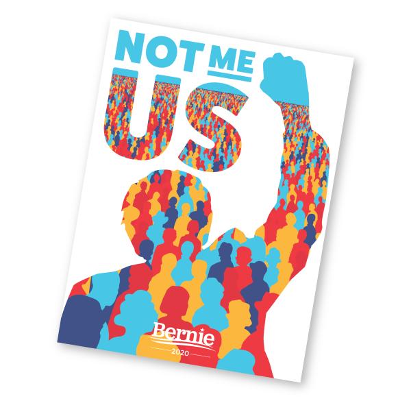 Not Me. Us. Bernie sticker