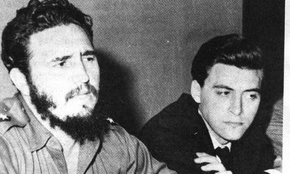 Massetti junto a Fidel en los días iniciales de la Revolución Cubana. Foto: Clarín