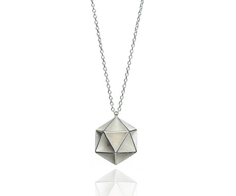 Icosahedron Pendant in Silver Stephanie Ray
