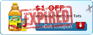 $1.00 off any flavor Mott's for Tots