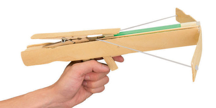 Rubberband Crossbow