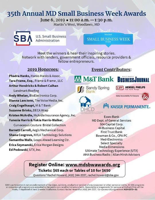MD SBW 2019 Registration Flyer
