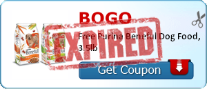 BOGO Free Purina Beneful Dog Food, 3.5lb