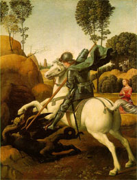 Saint George and the Dragon, a famous painting by Raphael.