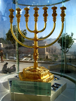 The Temple Institute has                 created this life-sized menorah for use in the future                 Third Temple.