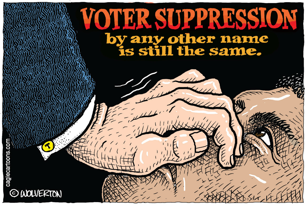 Voter Suppression by denying internet access and cell coverage to poor black and brown communities
