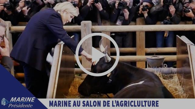 Marine Le Pen en visite au Salon de l'Agriculture à Paris |Marine 2017