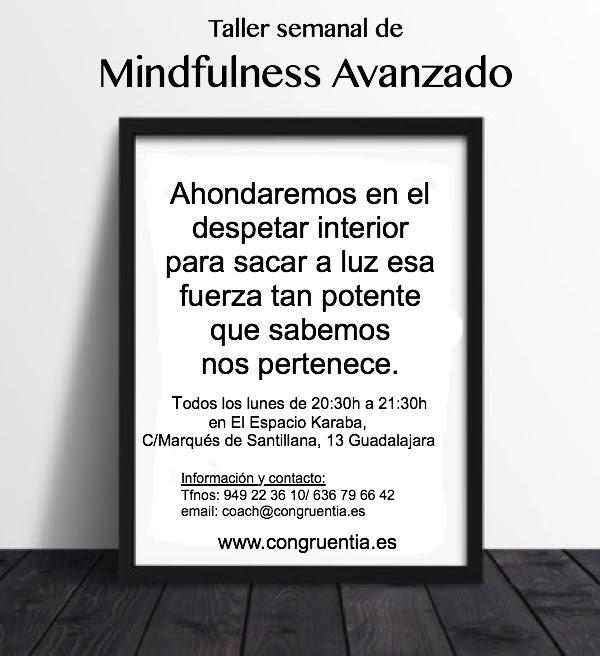 Info Taller semanal Mindfulness Avanzado