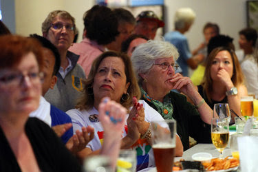 Women at a debate party on Sunday in San Francisco reacted to Donald J. Trump's remarks.
